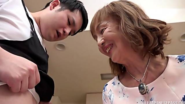 Asian mature wants dick in each of her cramped holes