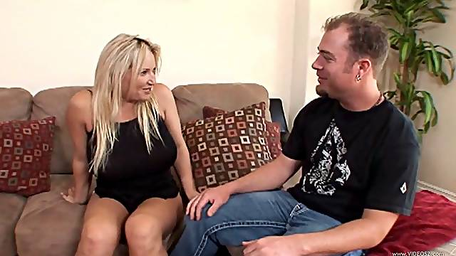 Big tits cougar blonde gets her chubby butt fucked