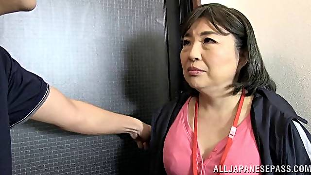 Chubby mature Japanese woman gets fucked like never before