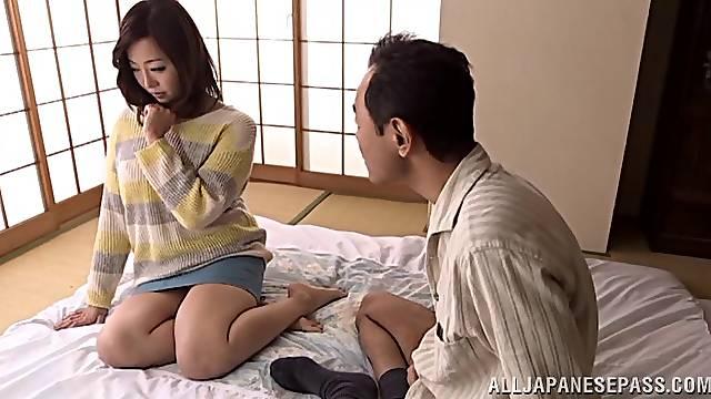 Radiant Japanese wife fucked hardcore