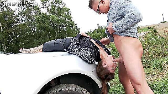 Clothed Susan Ayn loves to be deeptroathed and face fucked