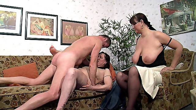Chubby German babes are ready for the unforgettable threesome shagging