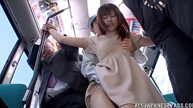 Fucking in the public bus with cock hungry Japanese Rina Rukawa