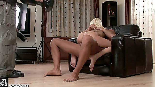 Backstage Porn Action with Portuguese Blonde Star Erica Fontes