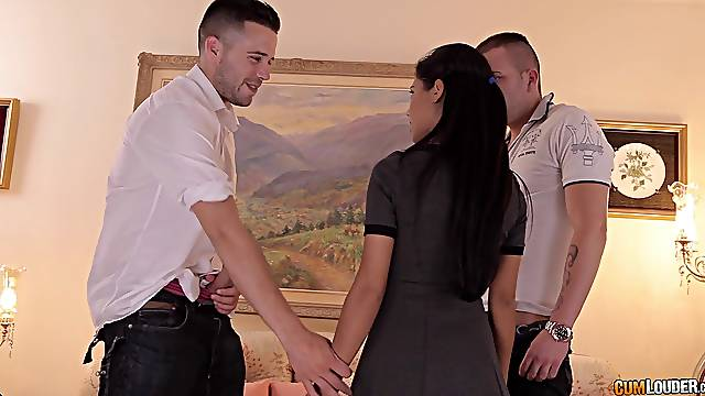 MMF threesome with Latina professional escort Apolonia. HD video