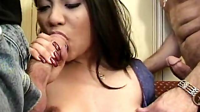 Double penetration threesome between 2 white guys and Jade Marcela