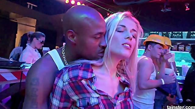 Beauties dancing with male strippers and getting fucked