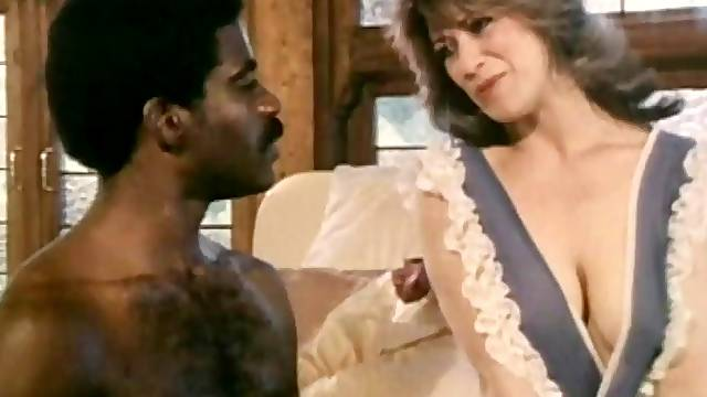 Retro interracial porn with mature wife Christy Canyon and a BBC