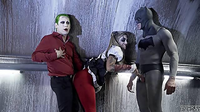 Movie parody with two horny guys and one kinky Kleio Valentien