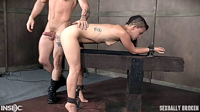 Rough BDSM fucking from behind with slutty babe Devilynne