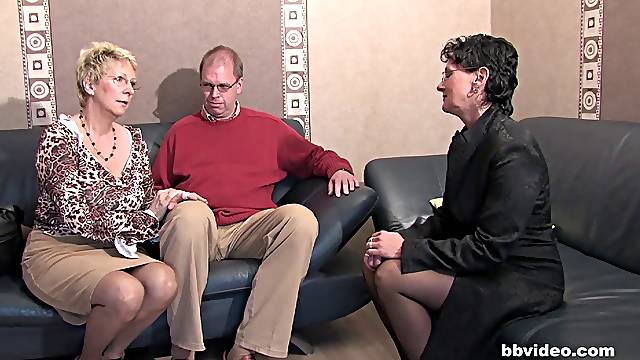 Kinky forursome sex with a mature couple and a younger one