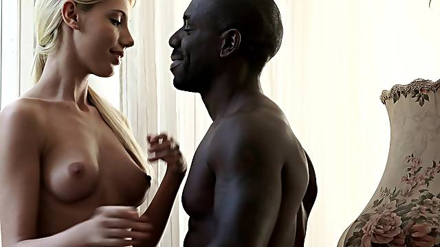 His monster black cock was too big for young babe Kimber Delice