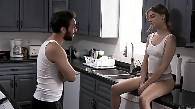 Smooth fucking in the kitchen with cock hungry GF Kristen Scott