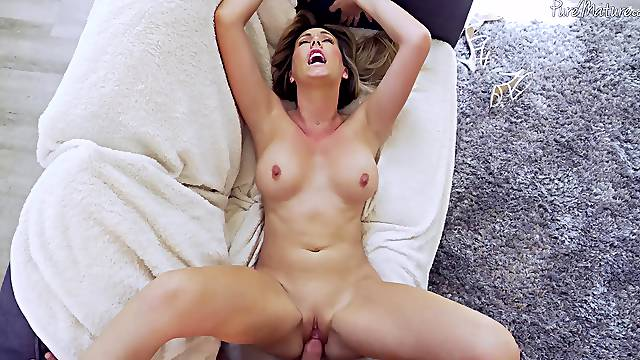 Lovely wife Brett Rossi masturbating and gets fucked by a perv