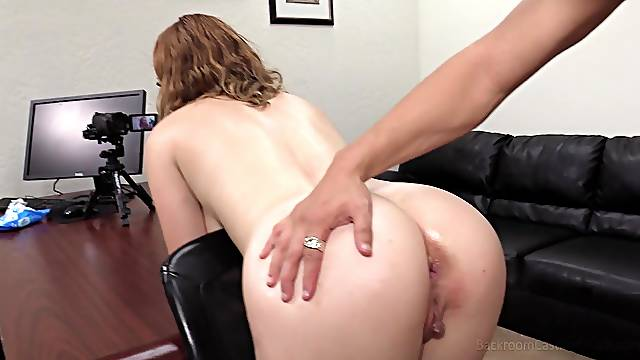 Rough doggy fuck and cumshot for Kaitlyn bent over the table