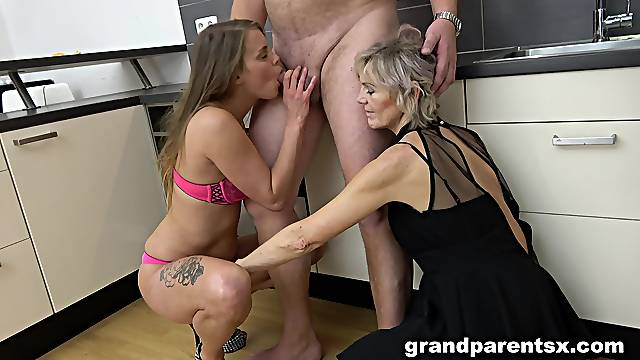 Mature husband and wife order a younger hooker for a threesome