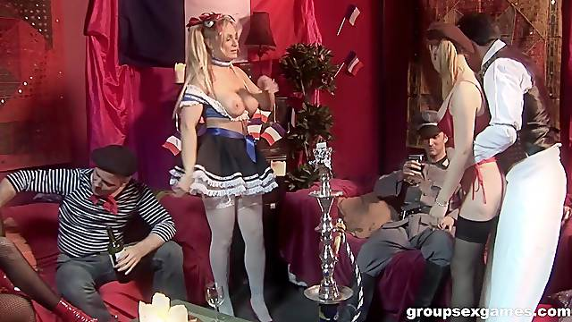 Costumed hardcore orgy with slutty Briana Love and her friends