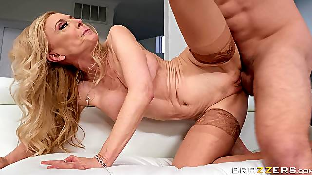 mature Nina Hartley is ready for hard stranger's penis after a blowjob