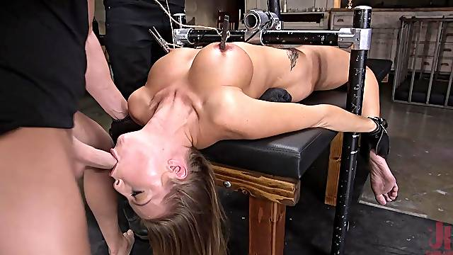 Rough torture session with mouth and ass fucking for Britney Amber