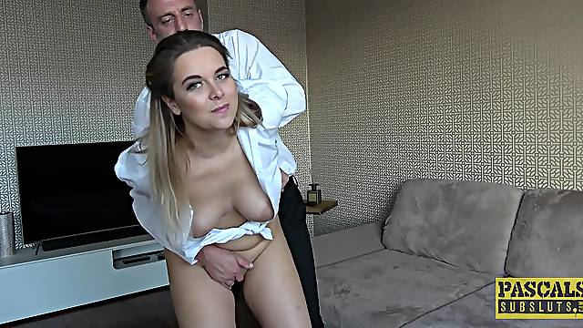 Amateur MILF wife Nikky Dream loves it when her husband fucks her rough