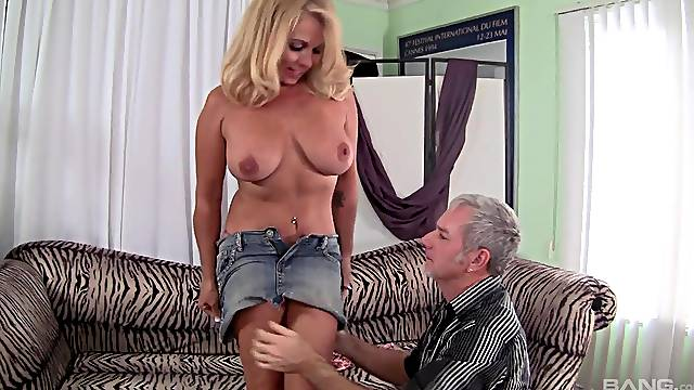 Blonde mature wife Crystal Taylor loves having sex with her husband
