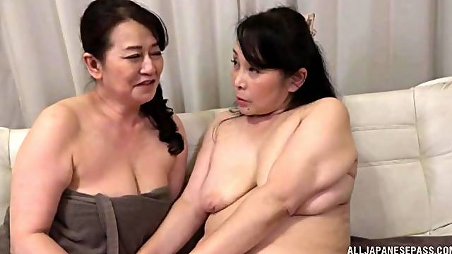 Chubby Japanese gets her juicy pussy pleased by her lesbian friend