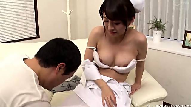 Japanese nurse gets fucked by hard friend's dick in the hospital
