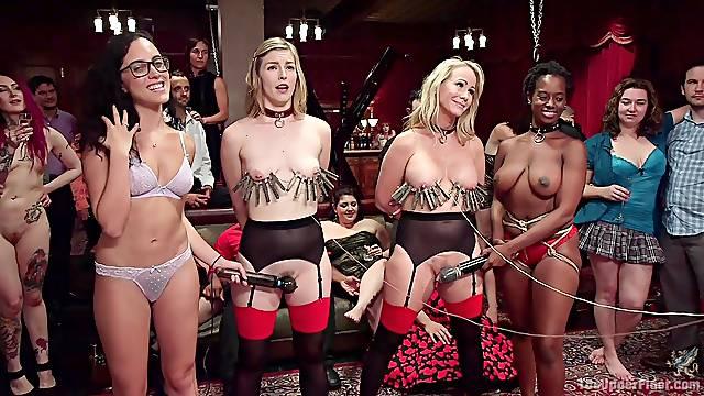 Torture session with stunning stars Simone Sonay and Ella Nova