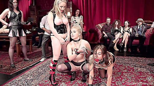 Dirty BDSM video with slave girls Rikki Rumor and Aiden Starr