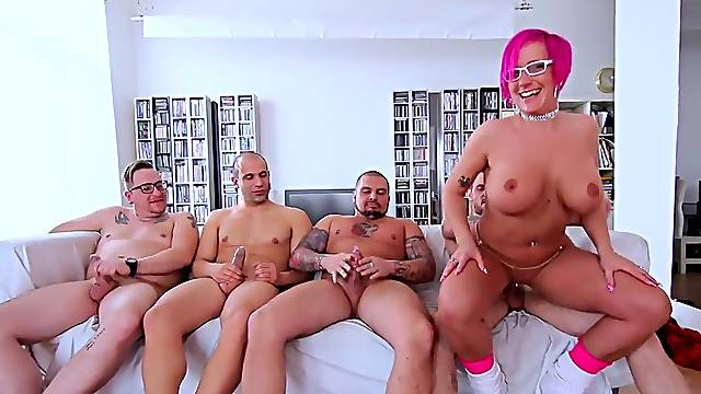 Brutal double penetration gangbang with cum in mouth of Nalaa Dufoxx