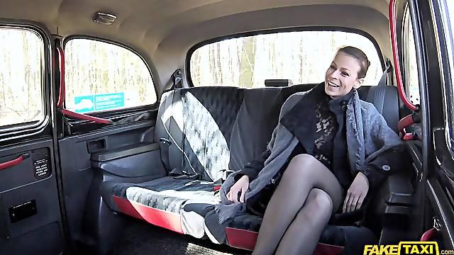 Wild fucking in a taxi with MILF sex bomb Caroline Ardolino