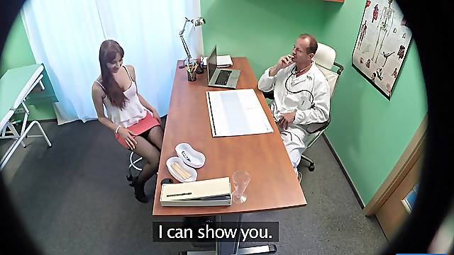 Spy cam in the hospital catches sexy Chelsy Sun riding her doctor
