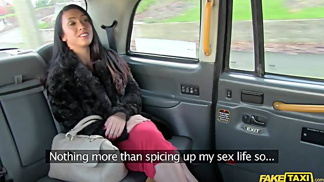 Spy cam in a taxi cab records cum in mouth ending for Hannah