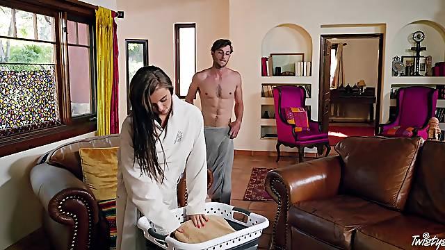 Passionate fucking at home with seductive girlfriend Carolina Sweets