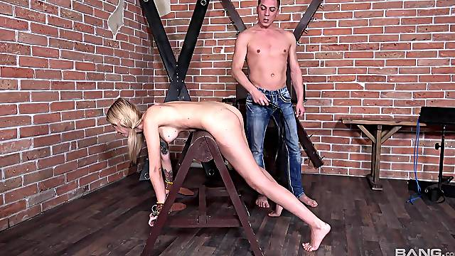 Kinky girlfriend loves being tied up and spanked during sex