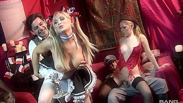 Kinky group sex party with sexy amateur chick Brianna Love