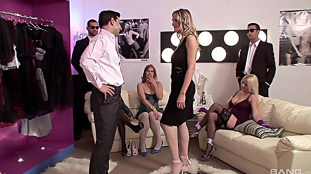 Wild group sex with cock hungry Paige Ashley & Antonia Deona