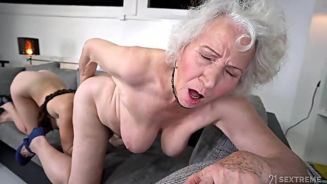 Amateur granny Norma B loves having sex with kinky Tiffany Doll
