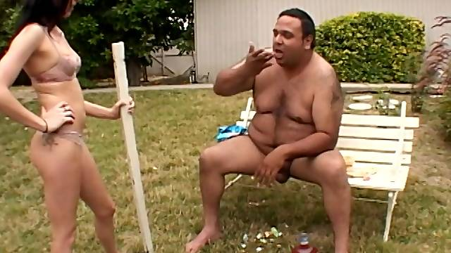 Fat dude with a small dick fucks amateur darling Katrina Isis