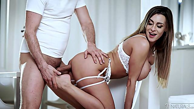 Erotic fucking with provocative wifey Kristof Cale in lingerie