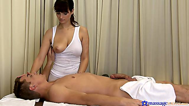 Passionate dick massage leads to fucking with sexy Rita Peach