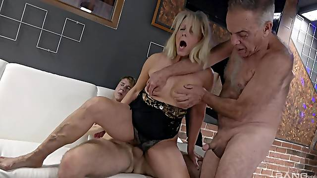 Incredible old vs young bisexual threesome with dirtyLucy Blond