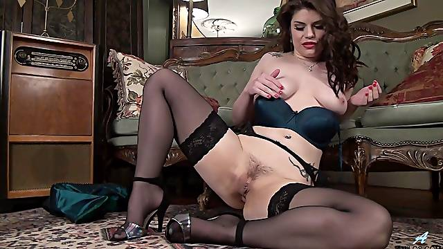 Amateur solo video of Lucia Love pleasuring her cravings. HD