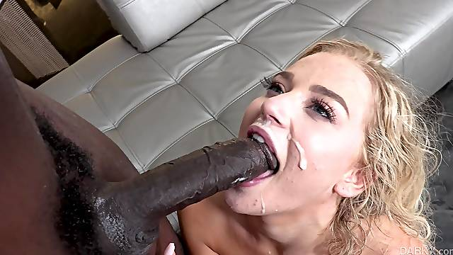 Naughty babe Blake Blossom gets her hands on a big black cock