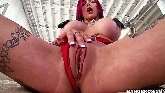 Naughty pink haired babe Anna Bell Peaks enjoys getting fucked hard