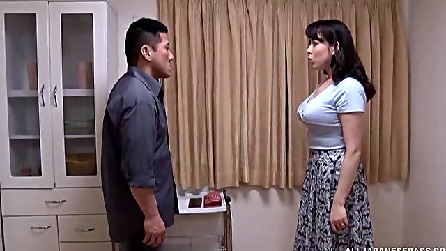 Passionate fucking on the bed with busty Japanese Mishima Natsuko