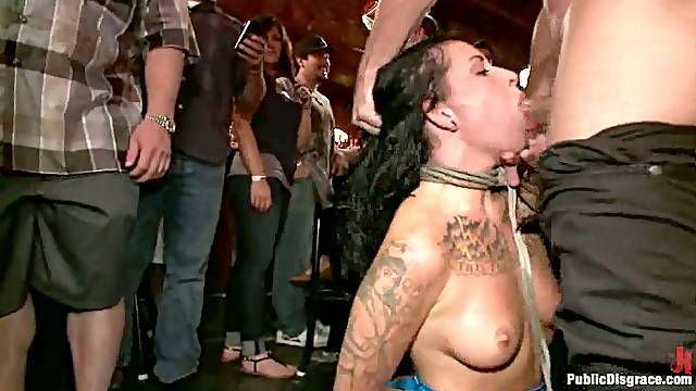 Girl's Public Fetish Becomes A Sexual Torture!