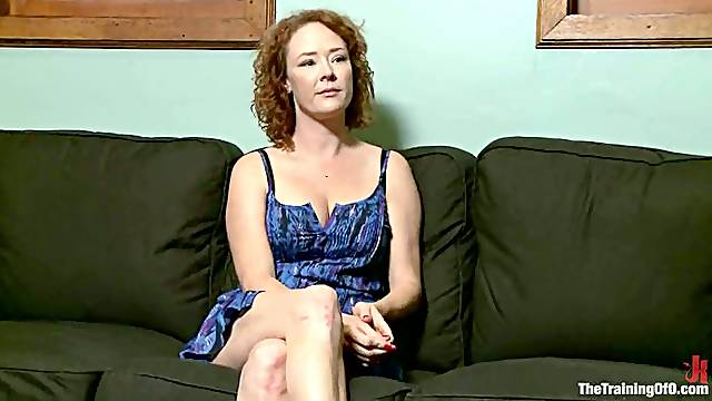 Audrey Hollander gets her ass fucked hard with a dildo in BDSM clip