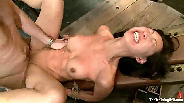 Tia Ling moans loudly while getting her ass drilled in BDSM scene