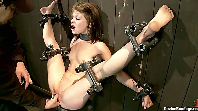 Toying Cute Sensi Pearl While Bounded in BDSM Session
